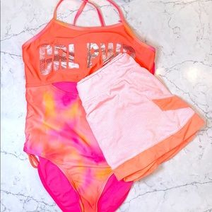 Pink beach outfit
